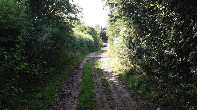 Byway nearing Cheesedown Farm
