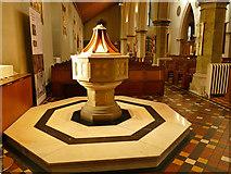 SK5640 : Nottingham Cathedral - font by Stephen Craven