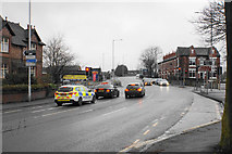 SJ8993 : Traffic lights on Reddish Road by Bill Boaden