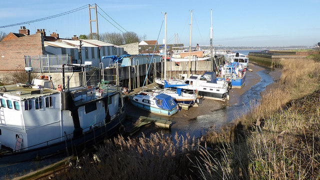 Vessels moored in Barton Haven