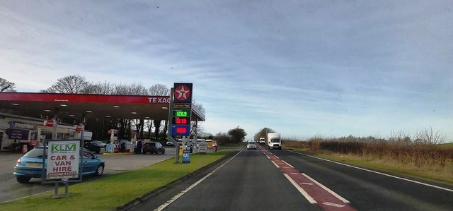 Fuel Filling Station on the A65