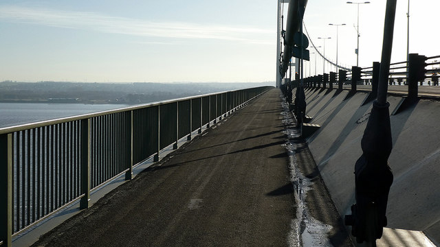 Pathway on the Humber Bridge