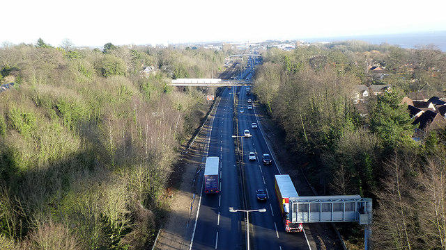 The A63 road