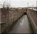 SO8318 : Path to a station underpass, Gloucester by Jaggery