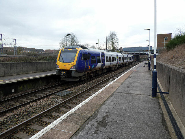 A train for Leeds at Retford Low-Level station