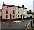 SO0428 : Three storey houses, Watton, Brecon by Jaggery