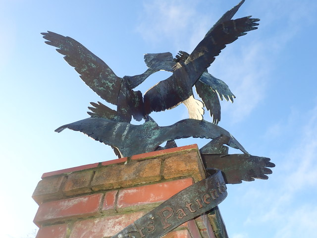 Bird statue on the site of the former Downshire Mental Hospital