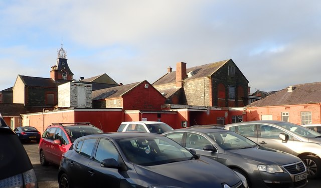 Buildings in the rear of the former Downshire Hospital's Great Hall