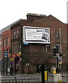 SO8318 : Global advertising board at the eastern end of Northgate Street, Gloucester by Jaggery