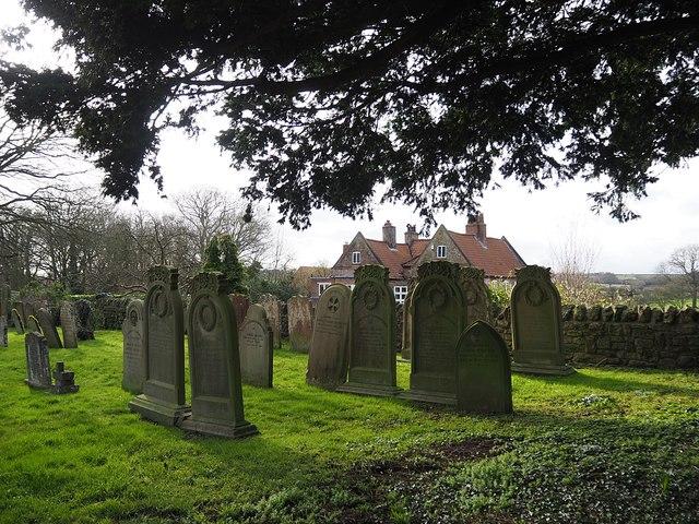 Headstones in the East Markham churchyard