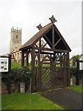 SK7474 : The lych gate at St Peter's Church by Graham Hogg