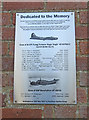 TG0325 : Memorial to mid-air collision at Foulsham by Adrian S Pye