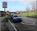 ST3487 : Start of the 20 zone, Aberthaw Road, Alway, Newport by Jaggery