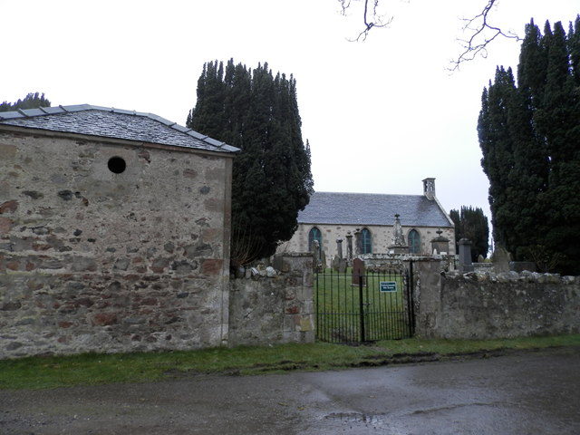 Watch house and church at Croy by Douglas Nelson