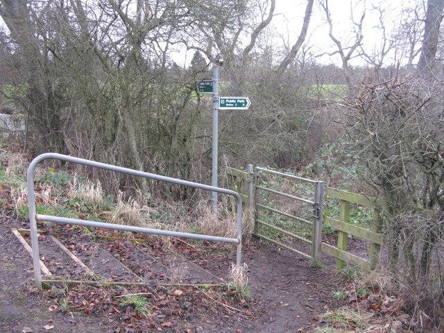 Public path near Gifford