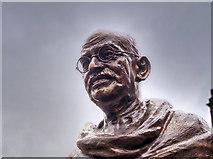 SJ8398 : Mahatma Gandhi Statue (detail) by David Dixon