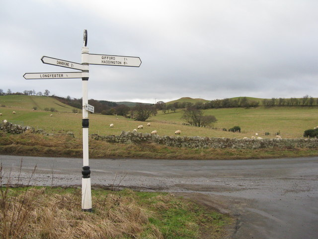 East Lothian finger post
