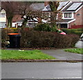 ST3090 : Two sizes of wheelie bin, Rowan Way, Malpas, Newport by Jaggery