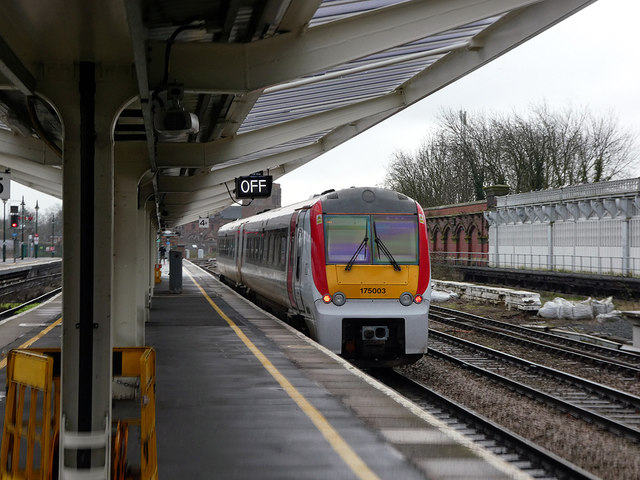 A Transport for Wales service departing from Shrewsbury