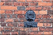 TG2308 : Cathedral Close - Norwich Union Fire Insurance marker (1587) by Evelyn Simak