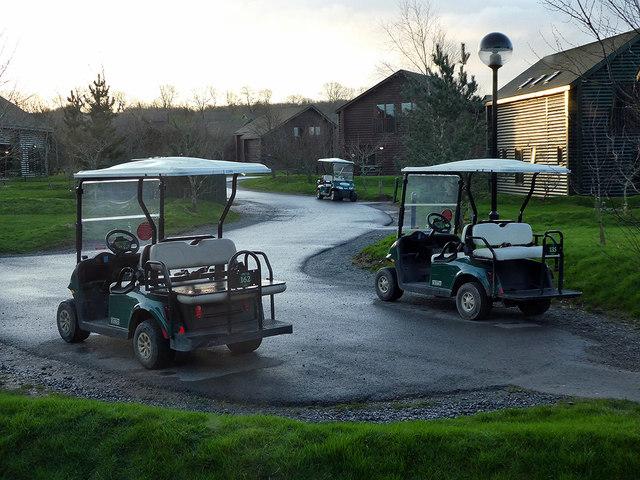 Golf carts at Bluestone