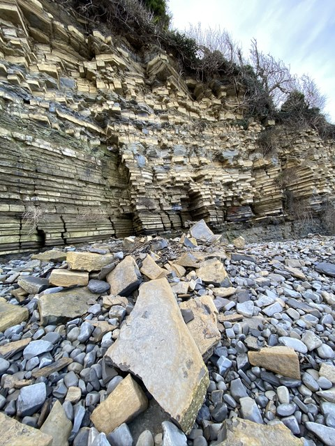 Rockfall at Lavernock Point