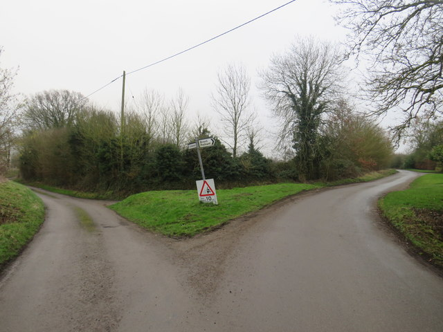 Country lanes near Anstey