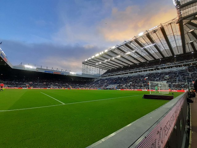 The Gallowgate Stand and Milburn Stand in St James' Park