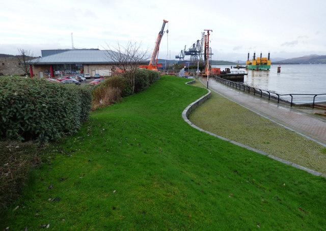 Cruise ship centre construction site