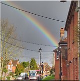 TQ2115 : Rainbow over Henfield, Sussex by Ian Cunliffe