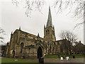 SK3871 : St Mary & All Saints' church, Chesterfield by J. Hannan