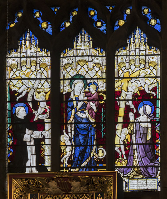 Holy Cross Chapel east window, St Mary & All Saints' church, Chesterfield