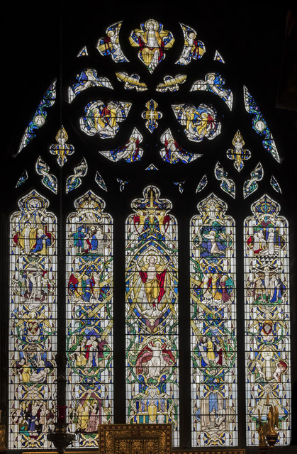 East window, St Mary & All Saints' church, Chesterfield