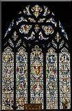 SK3871 : East window, St Mary & All Saints' church, Chesterfield by Julian P Guffogg