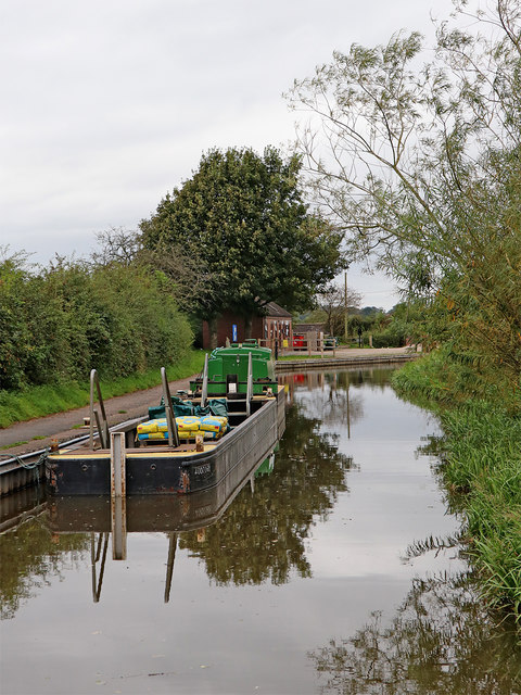 Canal maintenance boat near Endon Bank, Staffordshire