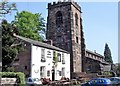SJ6386 : Grappenhall, Cheshire - pub and church by Ian Cunliffe