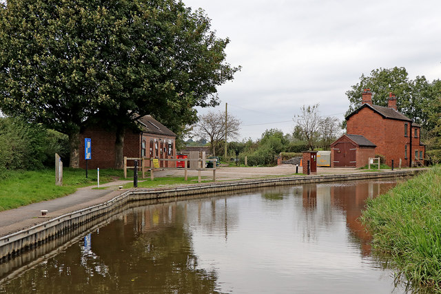 Caldon Canal near Endon Bank in Staffordshire