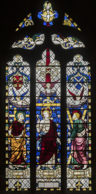 Stained glass window, St Mary & All Saints' church, Chesterfield