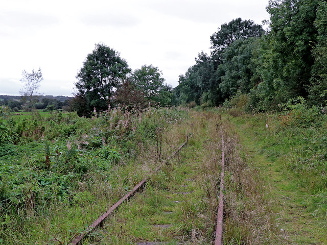 Disused railway near Endon Bank in Staffordshire