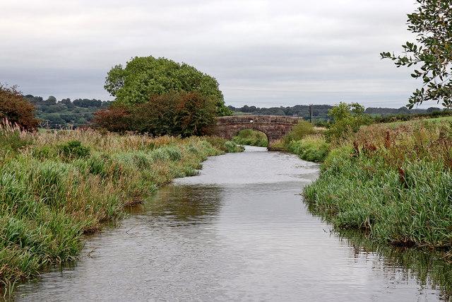 Caldon Canal approaching Smith's Bridge near Endon, Staffordshire