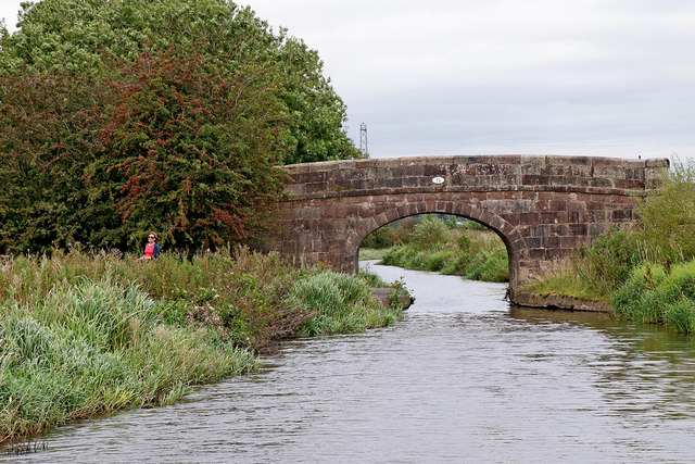 Smith's Bridge east of Endon Bank in Staffordshire