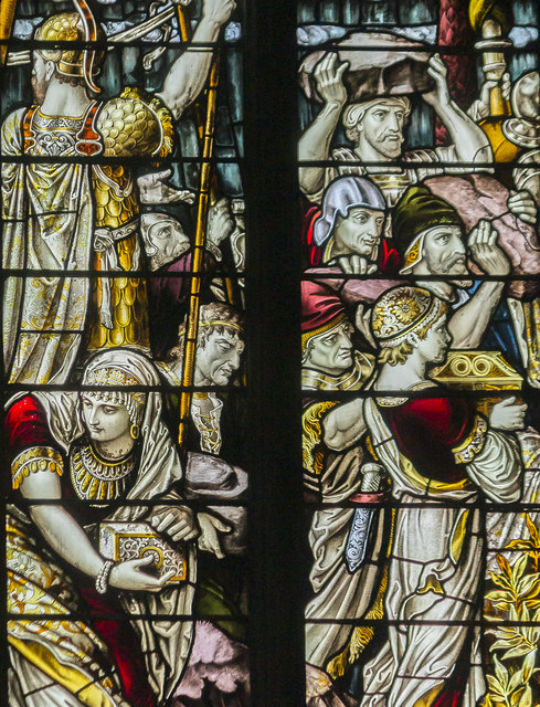 West window detail, St Mary & All Saints' church, Chesterfield