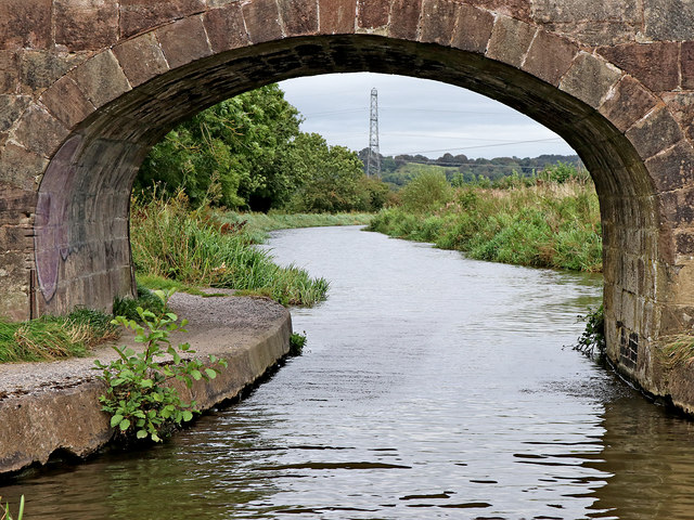 Caldon Canal east of Endon in Staffordshire