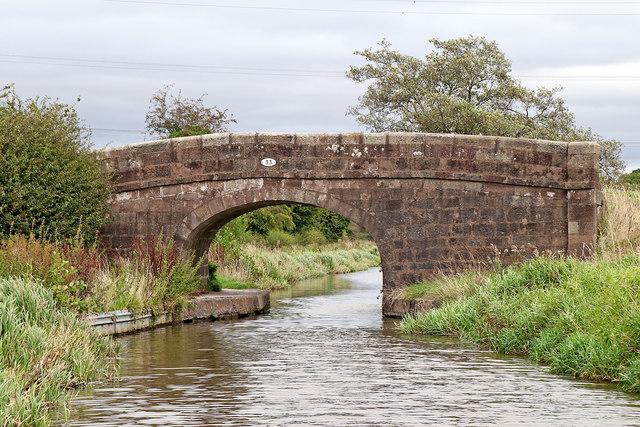 Brick Kiln Bridge east of Endon Bank in Staffordshire