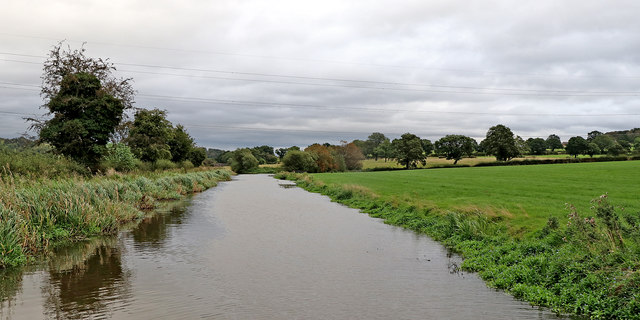 Canal and Staffordshire pasture east of Endon Bank
