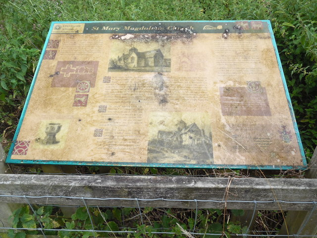 Information Board near the remains of St. Mary Magdalene Church, Flaunden