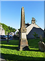 NN7801 : McCowan monument, Dunblane cathedral close by Stephen Craven