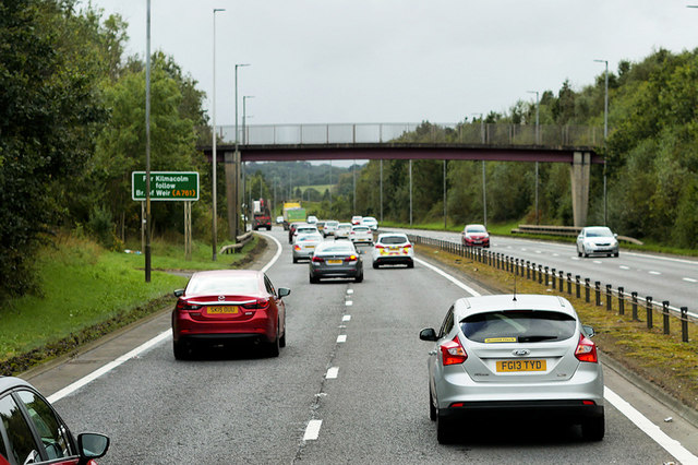 Footbridge over the A737 at Johnstone