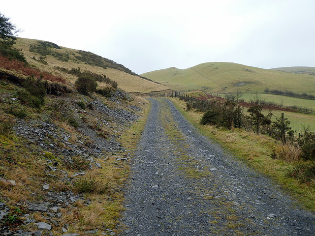Climbing on the bridleway heading for The Arch