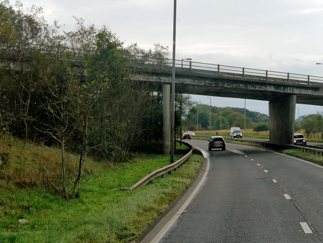 Bridge over the A77 Kilmarnock Bypass